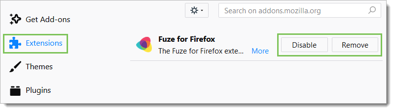 Enable, Disable, or Uninstall – Fuze Help Center